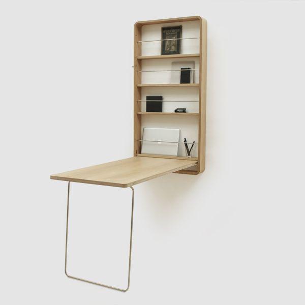 Klappbarer Tisch Stauraum An Der Wand Wohnzimmer Schreibtisch