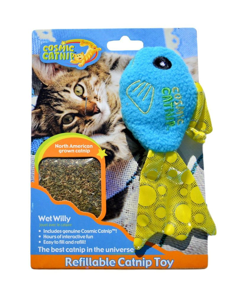 Details About Genuine 100 Cosmic Refillable Catnip Blue Fish Soft Plush Interactive Cat Toy Interactive Cat Toys Fish Cat Toy Toys