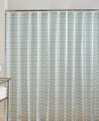 Jill Rosenwald New Port Gate Slate Shower Curtain Fabric Shower