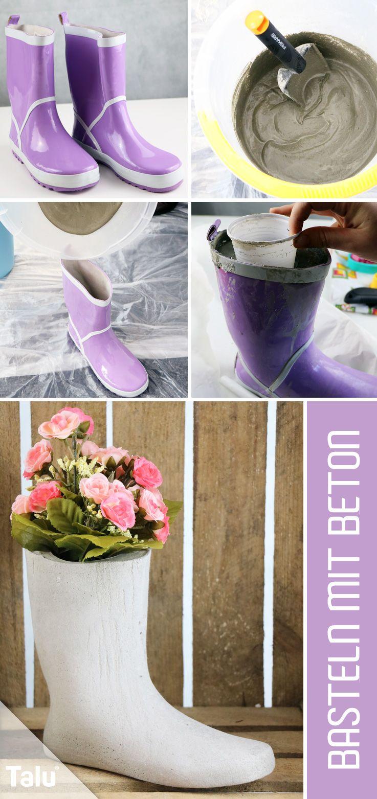 basteln mit beton - deko aus beton - kreative ideen | bloemschikken