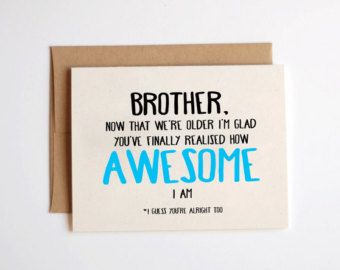 Older Brother Birthday Card