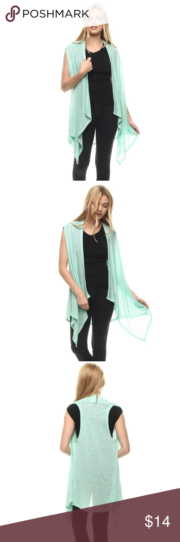 ✨Mint Short Duster FALL EDITION 🍁🍂✨ ✨SUPER CUTE MINT COLORED SWEATER/CARDIGAN✨🍂🍁 HACCI MATERIAL Ships 1-2 business day, I AM A FAST SHIPPER 🛫 YES, these are the real pictures of the item 💁🏻 Sizes available in REGULAR BRAND NEW merchandise only  MADE IN USA! 🇺🇸 Add it to bundle to save more 🤑 Sweaters Cardigans
