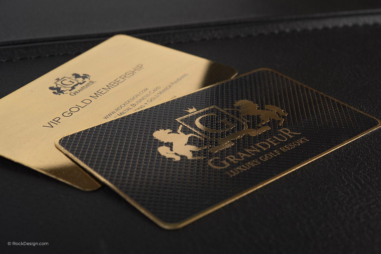 Luxury Gold Metal Business Card Grandeur Rockdesign Luxury Business Card Printing Metal Business Cards Printing Business Cards Luxury Business Cards