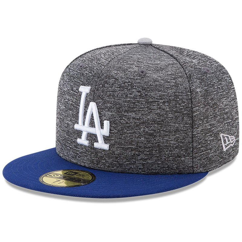 new arrival 59b35 a65d6 Los Angeles Dodgers New Era Shadow Tagged 59FIFTY Fitted Hat - Heathered  Gray Royal