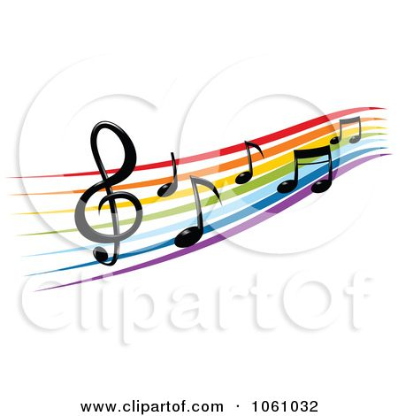music staff images of a rainbow staff and music notes 2 by rh pinterest com Music Notes Music Note Icon