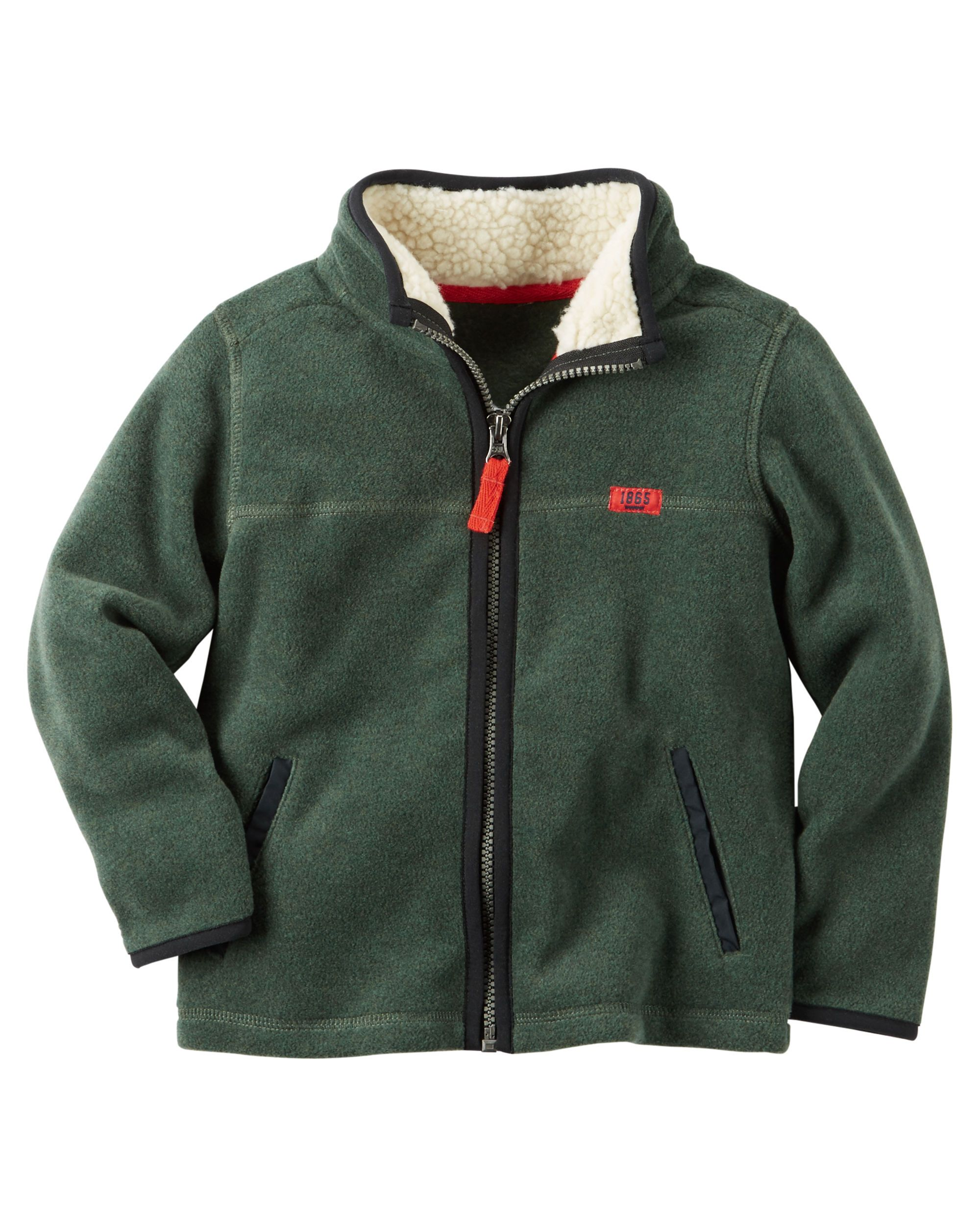 16955224df96 Toddler Boy Fleece Zip-Up Jacket