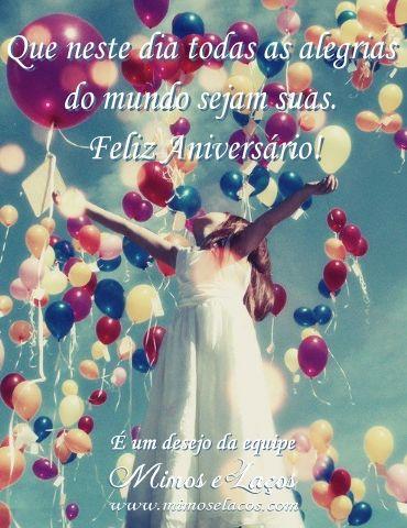 Cartões de Feliz Aniversario Happy birthday Pinterest Ballon