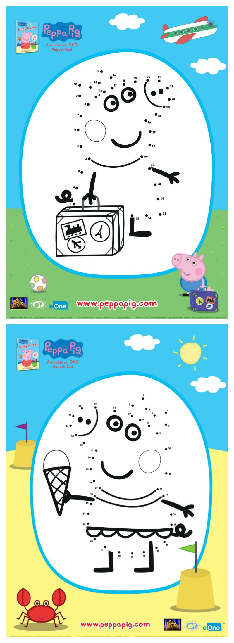 Peppa Pig Connect The Dots Activity Pages | Printable Coloring Pages ...