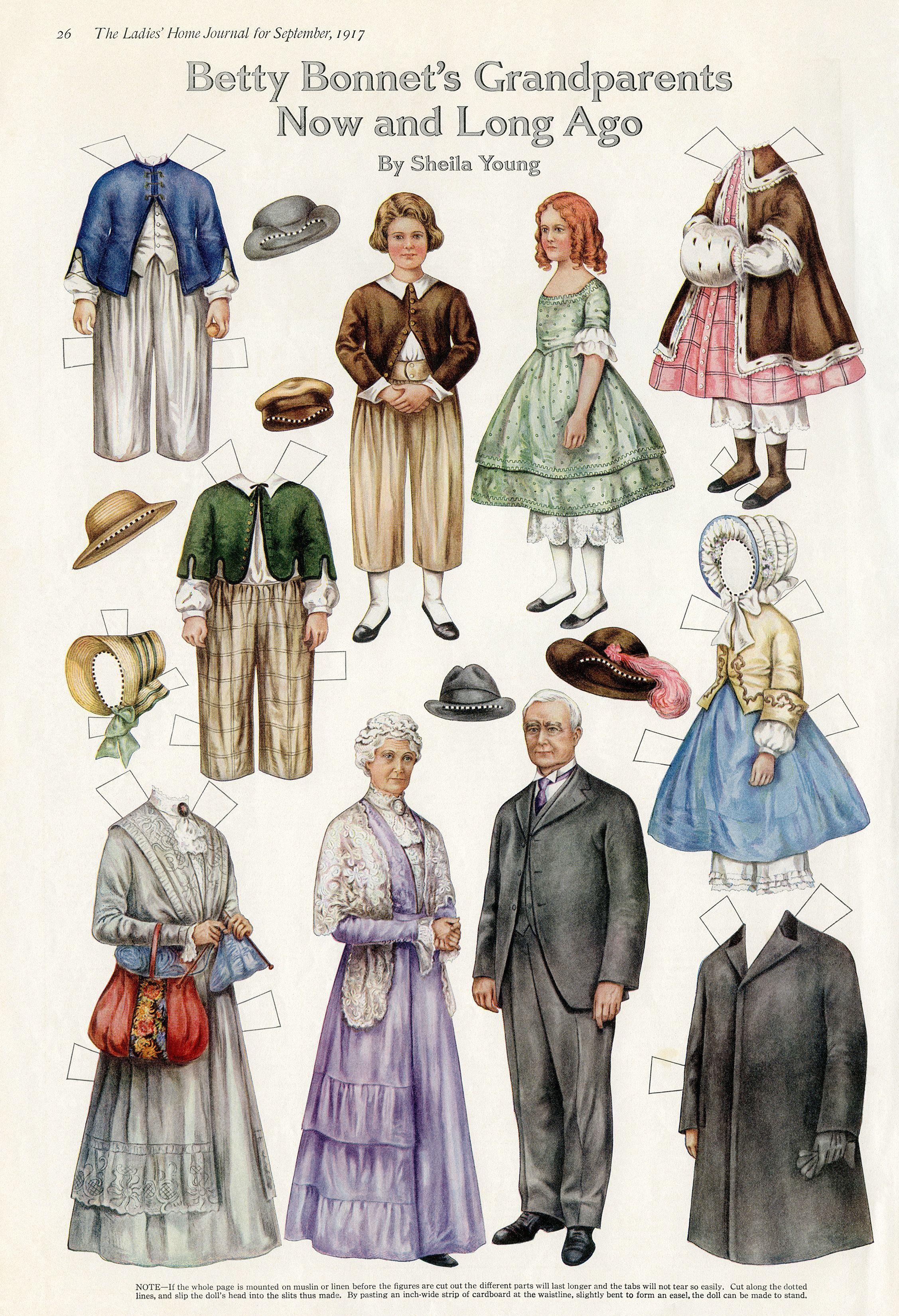 Free Printable Vintage Paper Doll Betty Bonnet S Grandparents Paper Dolls Clothing Vintage Paper Dolls Paper Dolls