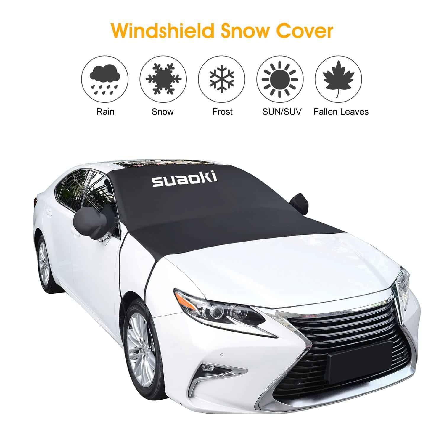Amazon windshield sun shade and snow car cover just 4