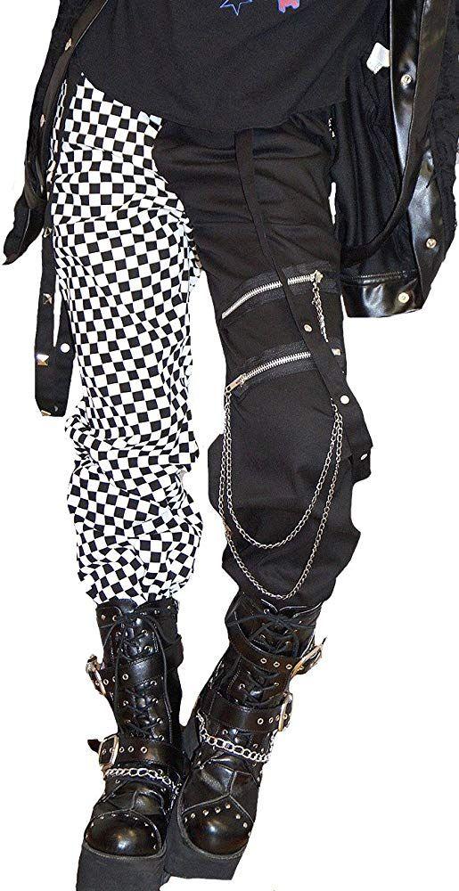 Hippies Women's Pants Straight Punk Rock Vkei Bloc