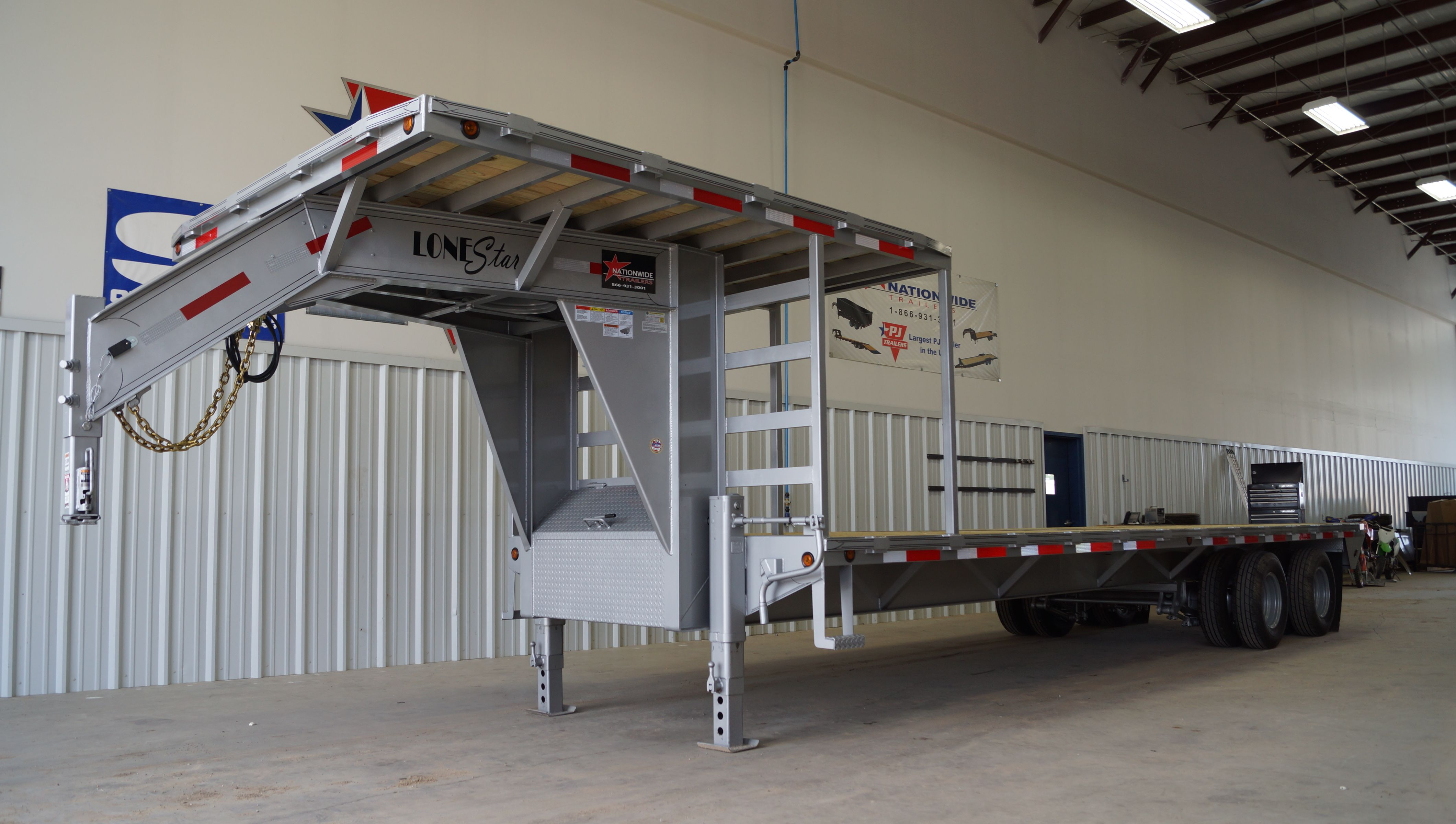 This trailer was built to land a helicopter on. Video