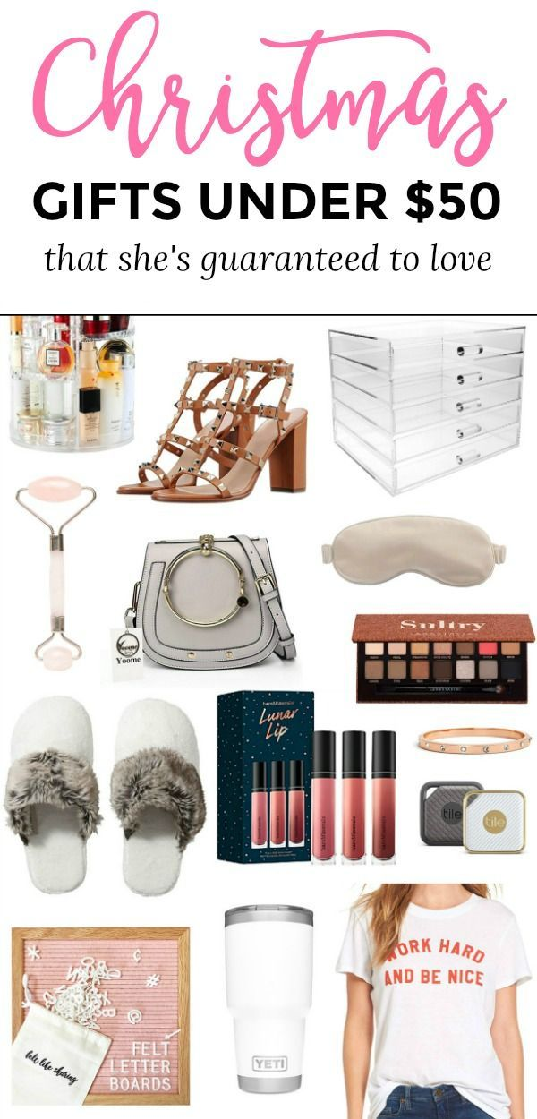The Best Christmas Gift Ideas For Women Under 50 That She S Guaranteed To Love No Matter Who Cool Gifts For Women Affordable Christmas Gifts Gifts For Women
