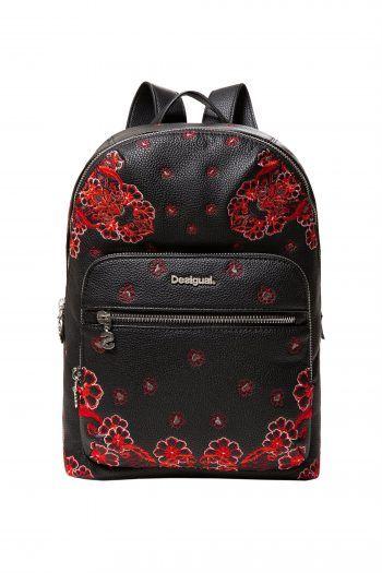 4a74f20765 Desigual γυναικείο backpack Manuela Foulard Lima - 18WAXPA0 - Μαύρο ...