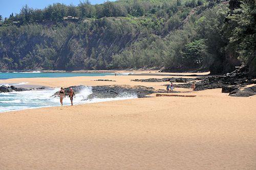 beaches clothing optional Kauai