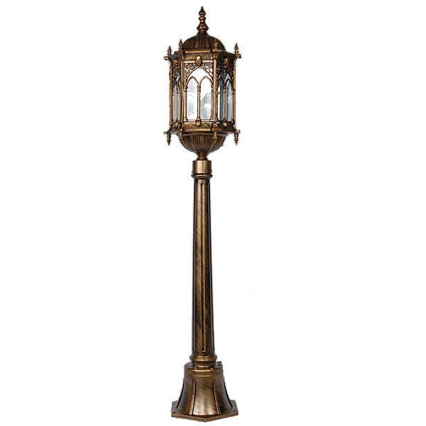 Bronze Finish Gothic Medieval Lamp Post Metal Porch Light,48u0027u0027H