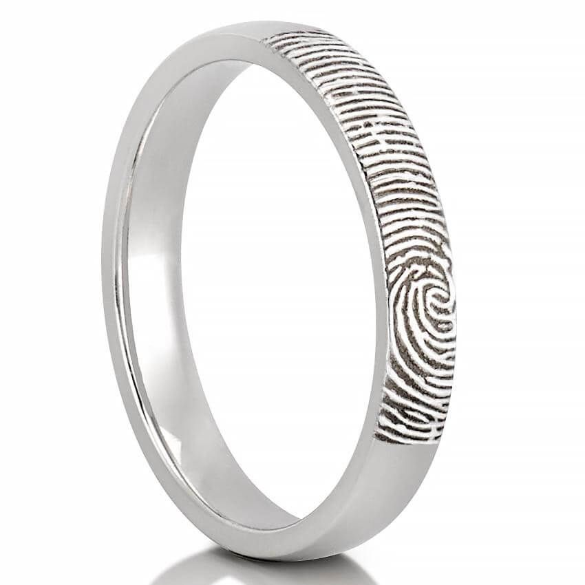 Fingerprint Wedding Band Women S Fingerprint On Outside Of Wedding Band Fingerprint Wedding Bands Fingerprint Wedding Fingerprint Ring