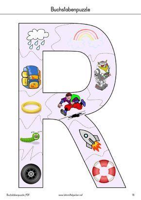 buchstaben-puzzle | pdf to flipbook | buchstaben puzzle, buchstaben lernen, deutsche buchstaben