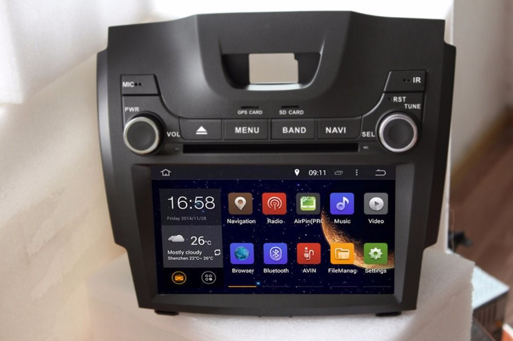 Quad Core Android 5 1 1 Car Dvd Player For 1024 600lcd Chevrolet S10 2011 Colorado 2011 Trailblazer With Images Bluetooth Car Stereo Chevrolet Trailblazer Car