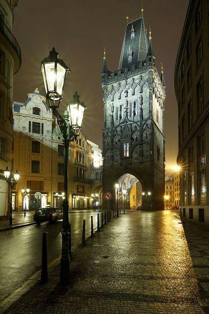 Prasna brana / Powder tower entering to beautiful Charles bridge in Prague