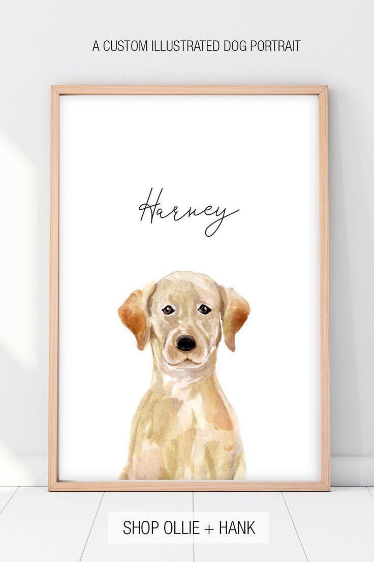 Dog Lover Gift | Custom Dog Portrait -   - #custom #Dog #DogLovers #DogsandPuppies #Gift #lover #portrait