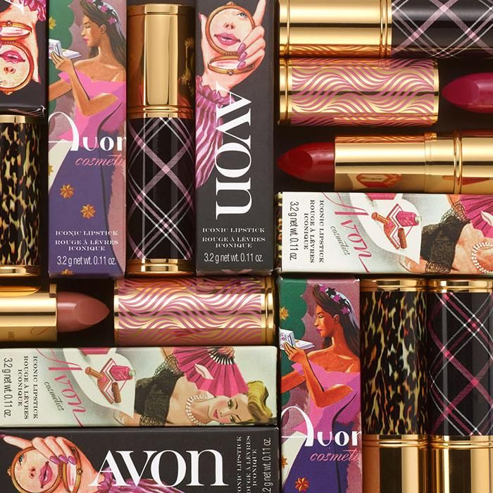 Iconic Avon Lipstick Avon lipstick in vintage packaging and iconic shades are here for a limited ti