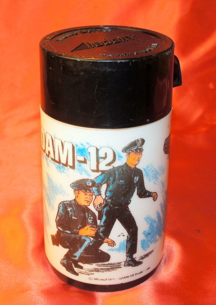 Adam 12 Police Vintage Thermos For Lunchbox 1972