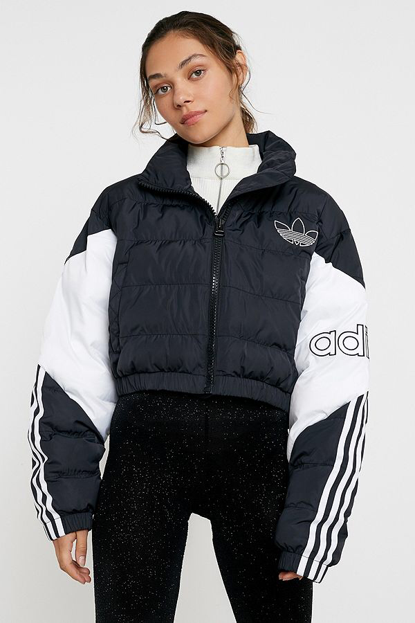 adidas Originals Colourblock Cropped Puffer Jacket