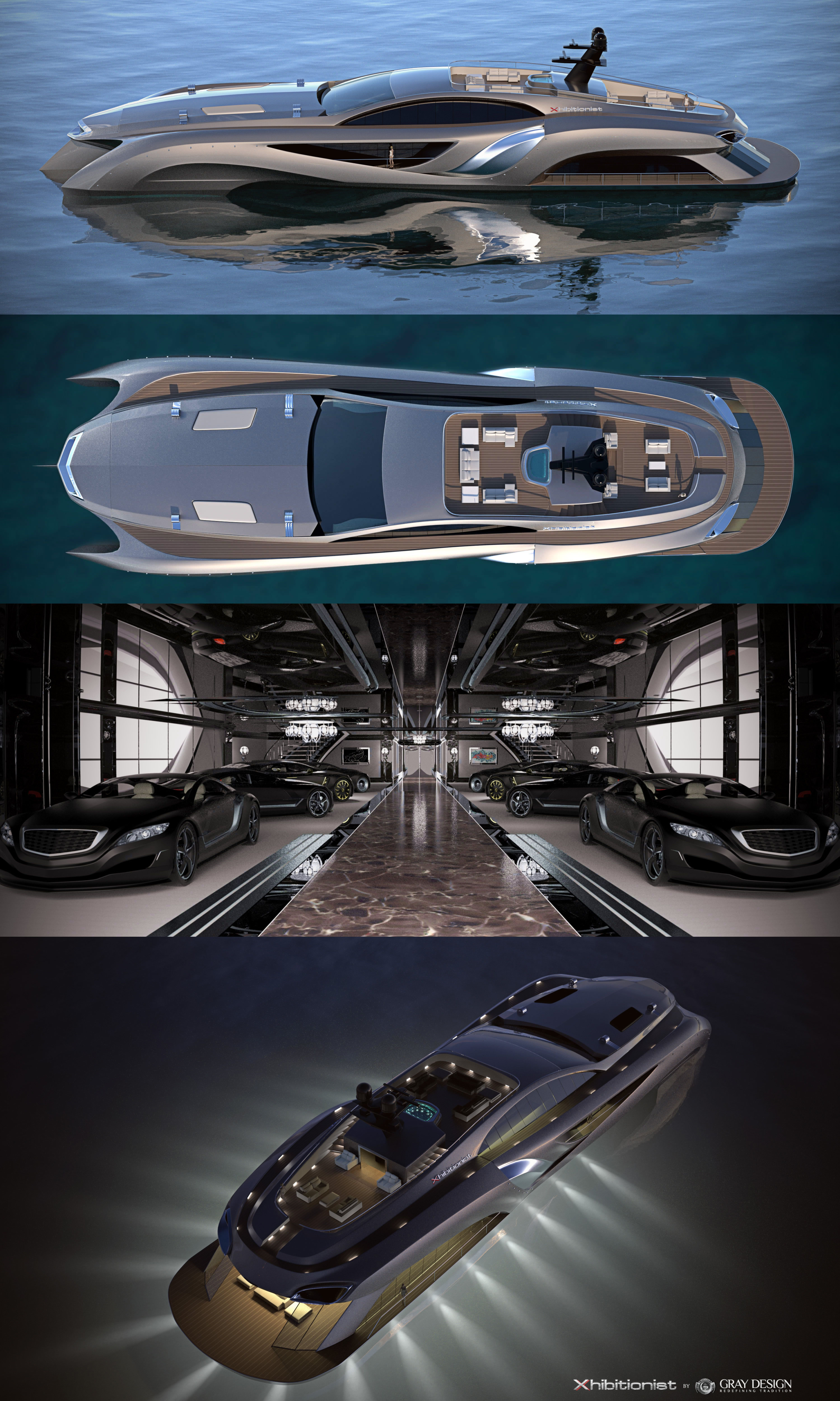 Xhibitionist Superyacht Concept By Gray Designs Luxury Yachts Boats Luxury Yacht Design