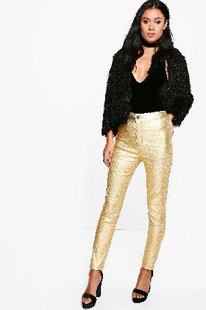 boohoo Metallic Coated Super Skinny Highwaist Trousers Avah Metallic Coated Super Skinny Highwaist Trousers - gold http://www.MightGet.com/january-2017-13/boohoo-metallic-coated-super-skinny-highwaist-trousers.asp
