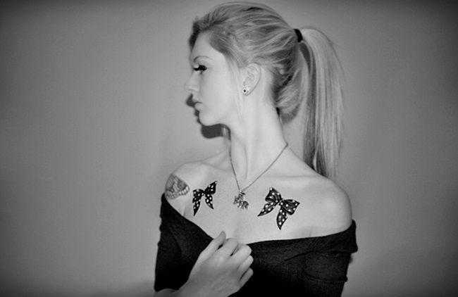 My new bow tattoos. (:
