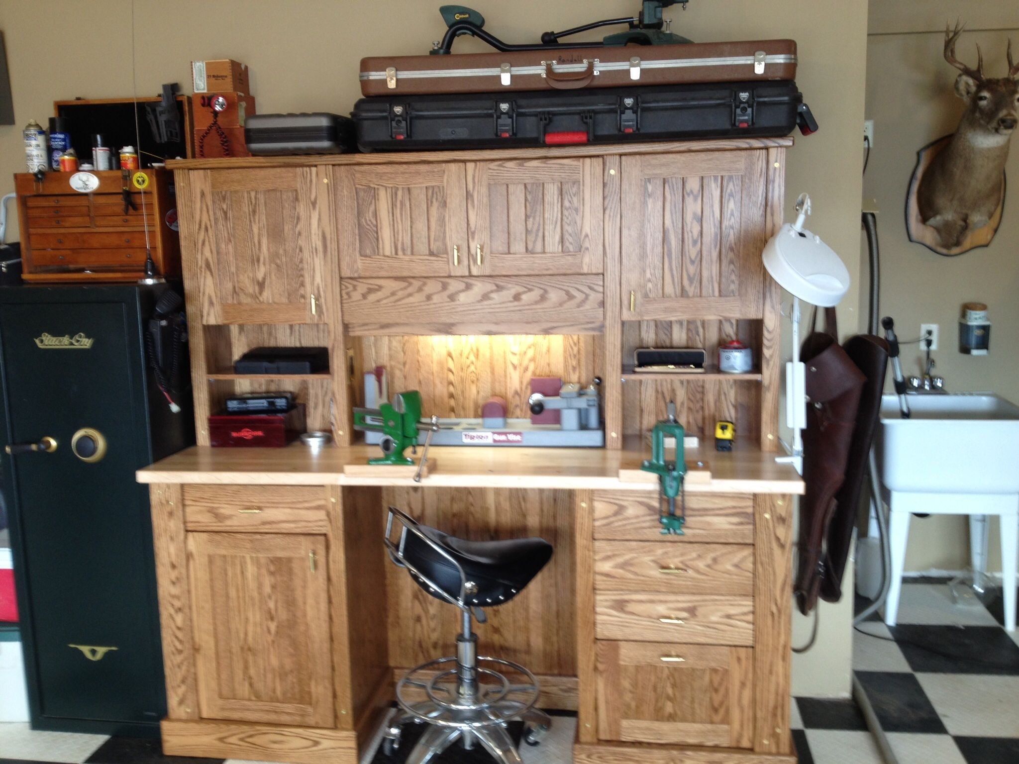 Stupendous My New Custom Reloading Bench Reloading Bench Reloading Squirreltailoven Fun Painted Chair Ideas Images Squirreltailovenorg