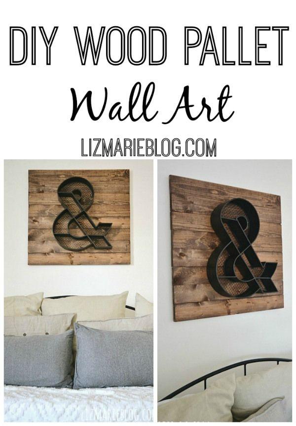 DIY Wood Pallet Wall Art - Lizmarieblog.com