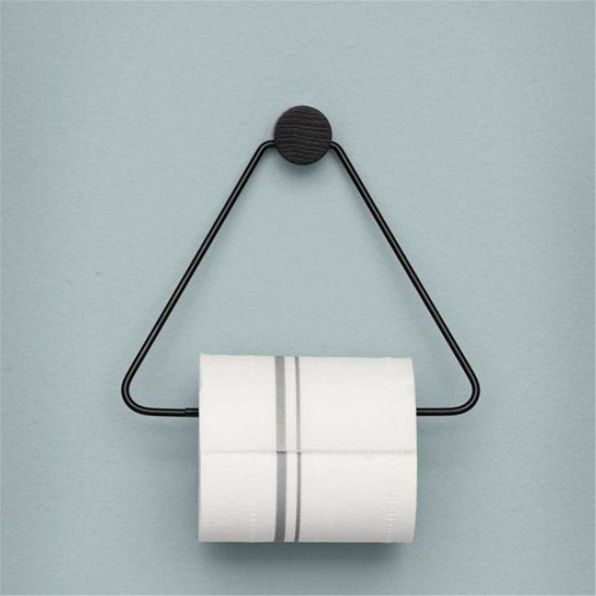 Vintage Toilet Paper Towel Roll Holder Bathroom Wall Mounted Rack Storage Shelf