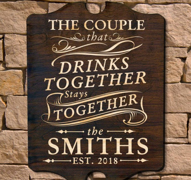 A Family That Drinks Together Plaque