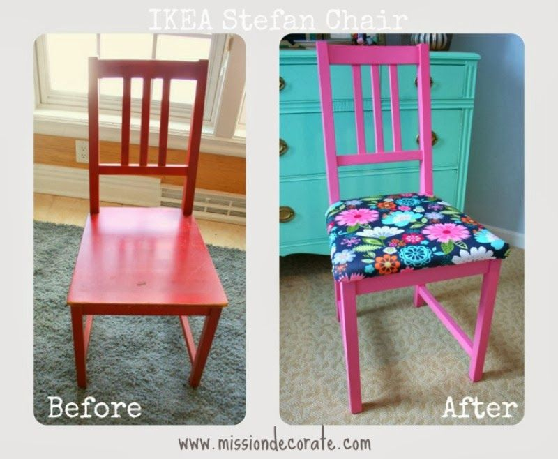 Ikea Eetkamerstoel Stefan.Ikea Stefan Chair Redesign Dreams For A Little Girl In
