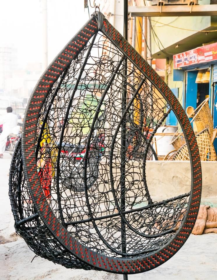 CF028 Jhola (Swing) in plastic wire material with Stand
