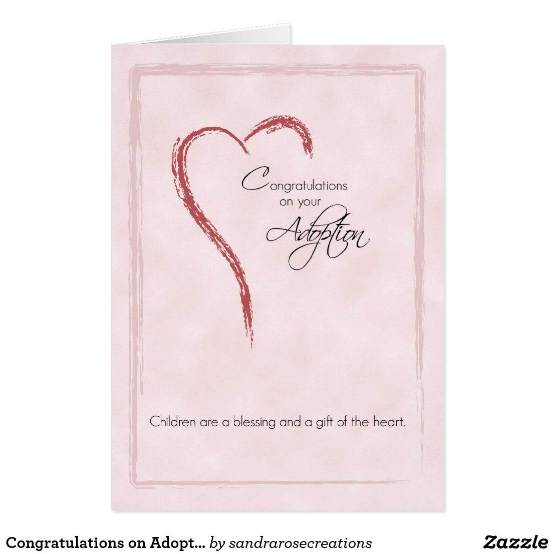 Congratulations On Adoption Of Girl Religious Card Adoption