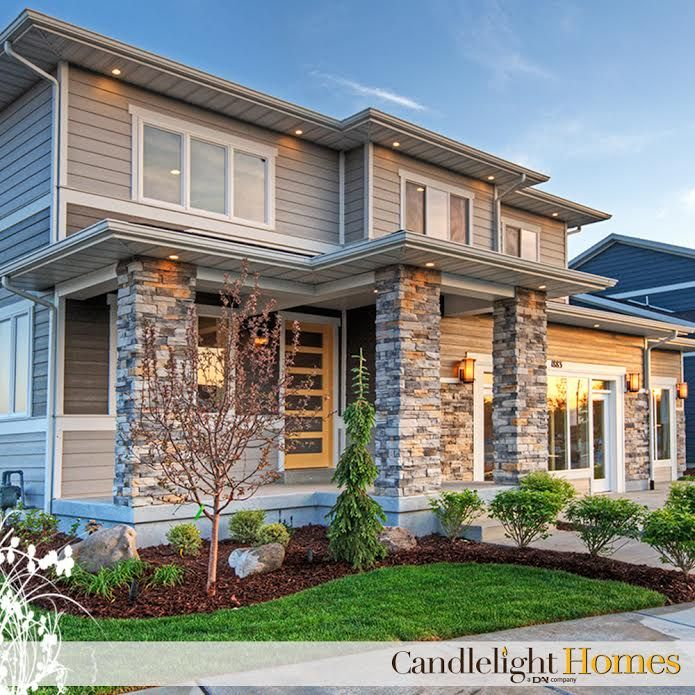 We absolutely love this beautiful Snowmass model in our Santorini Village community! Candlelight Homes. Utah Homes. Utah Builder. New Homes Utah. Home Exterior. Contemporary Home. Landscaping. South Jordan. Snowmass. Santorini Village.