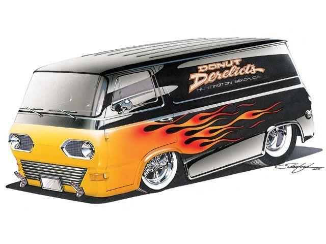 Steve Stanford Design Custom Vans Art Cars Cool Vans