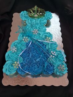 number shaped cakes frozen theme Google Search Cupcake Cakes