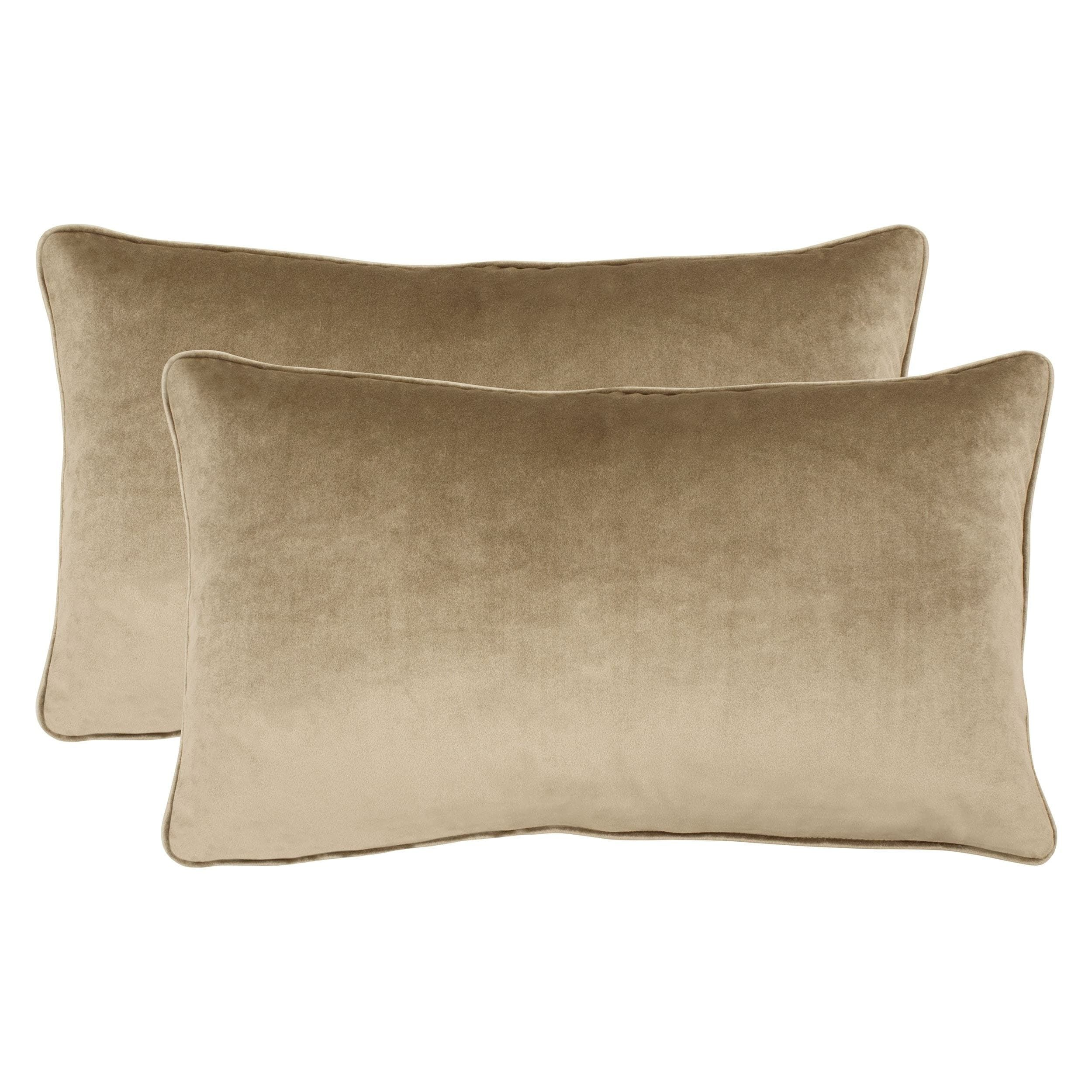 lumbar cushychic khaki pillow slipcover x brown product