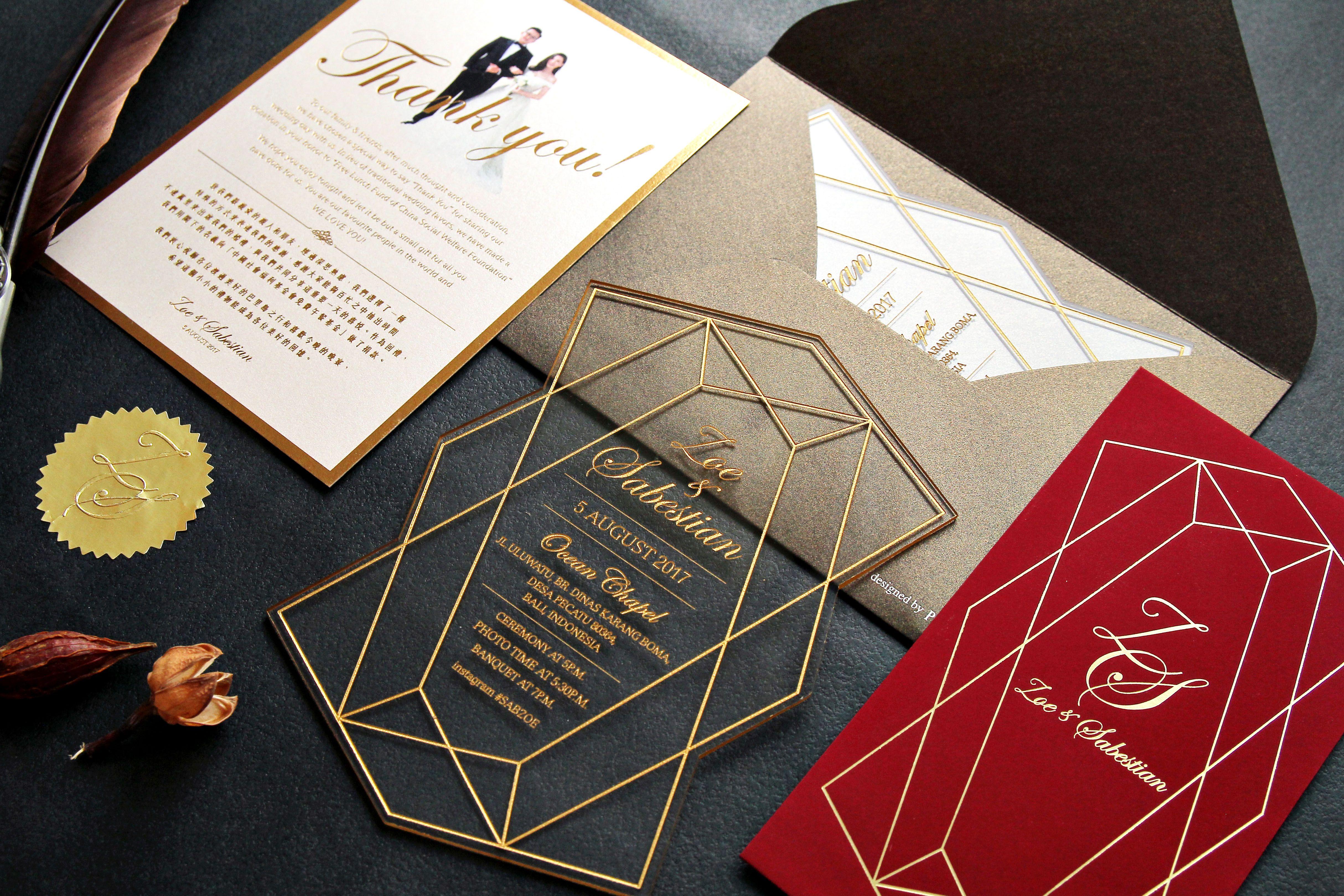 Acrylic Wedding Invitation Card 囍帖設計 #wedding #weddingcard ...