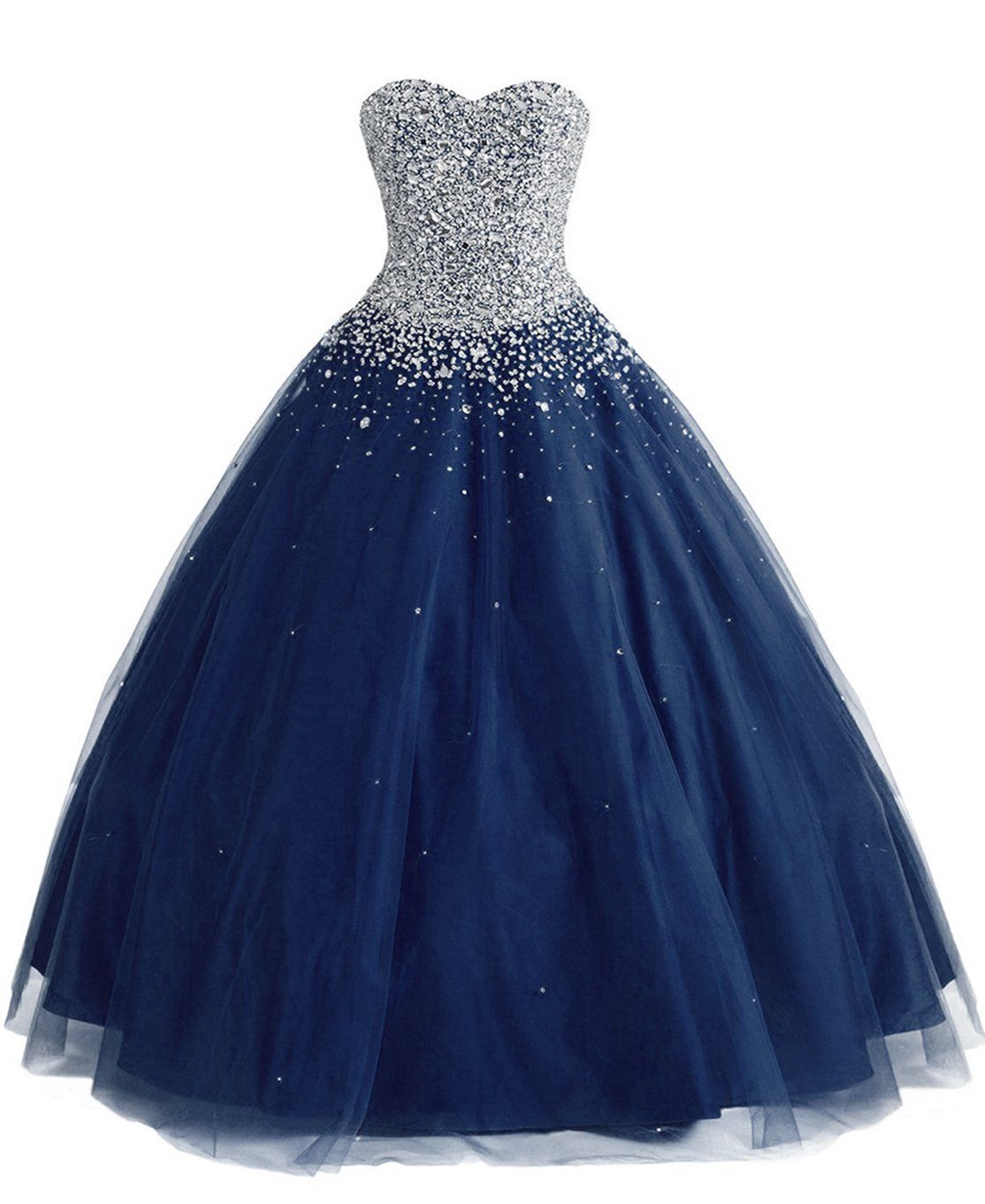 Merryjuly womenus tulle ball gown sweet prom quinceanera dresses