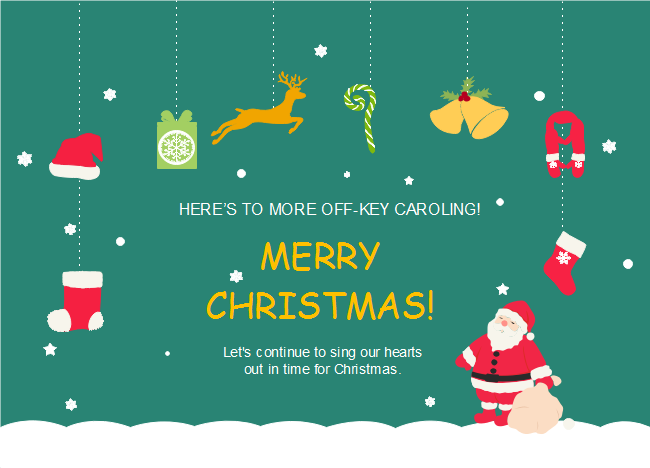 Here Comes Another Inspired Santa Claus Gifts Christmas Card Template From Edraw Fully Rich The Content On The C Christmas Card Template Christmas Cards Cards