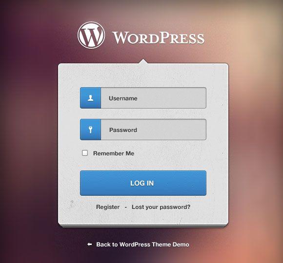 WordPress Login Form in the widget area of your website