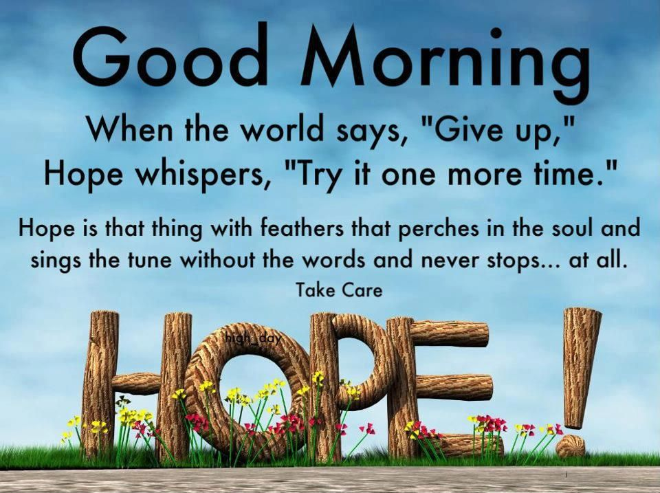 Good Morning Hope Quotes. QuotesGram