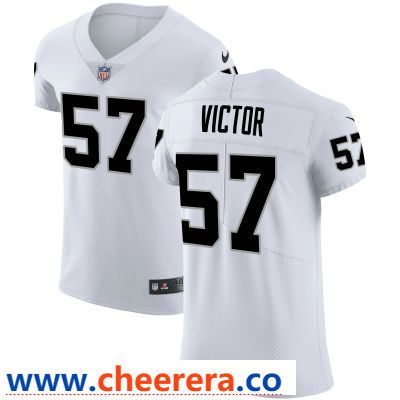 Top Men's Oakland Raiders #57 Azeem Victor White Road Stitched Vapor  for sale
