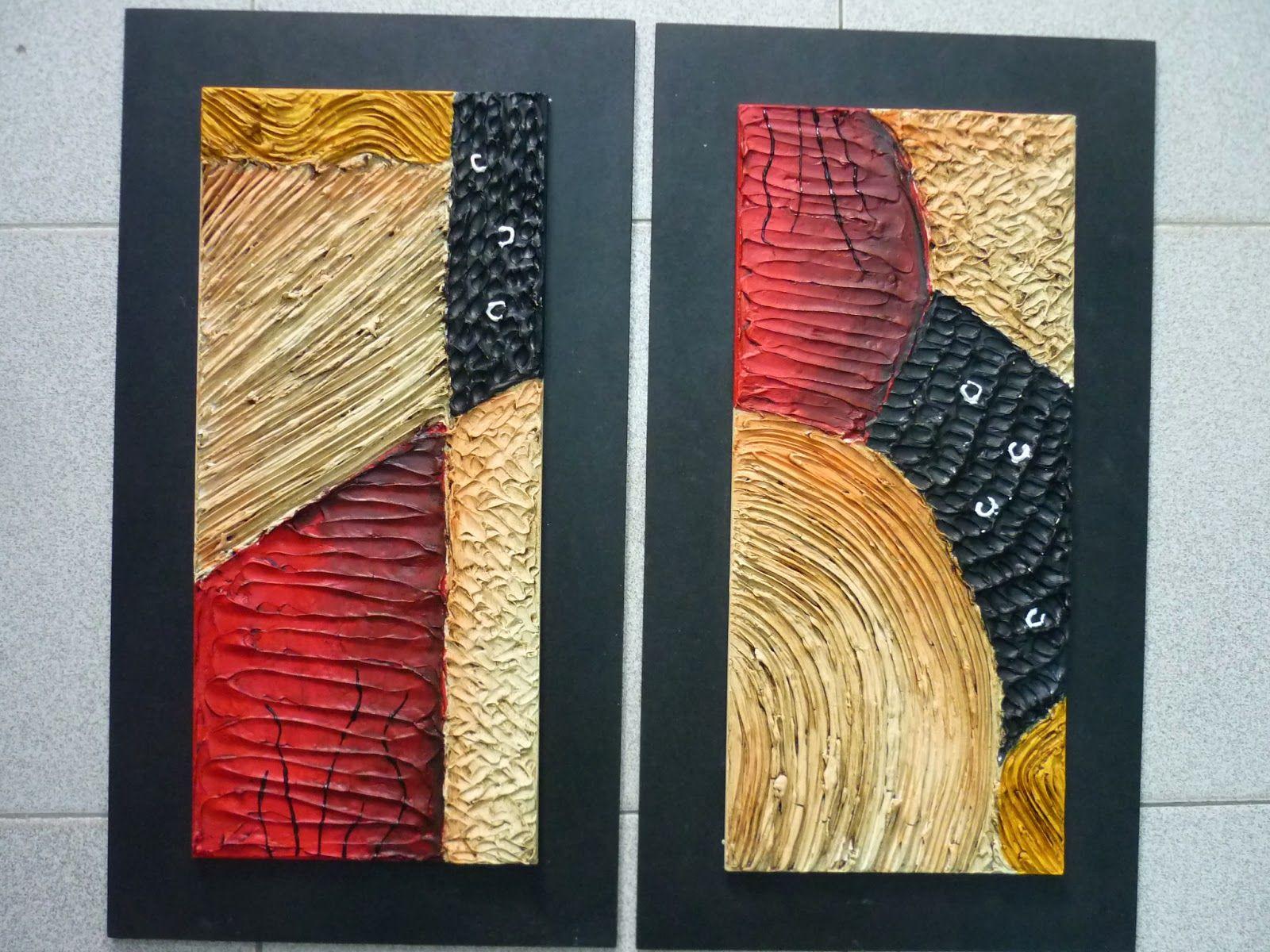 Creaciones de silvia textura por lorena proyectos que for Imagenes de cuadros abstractos con texturas