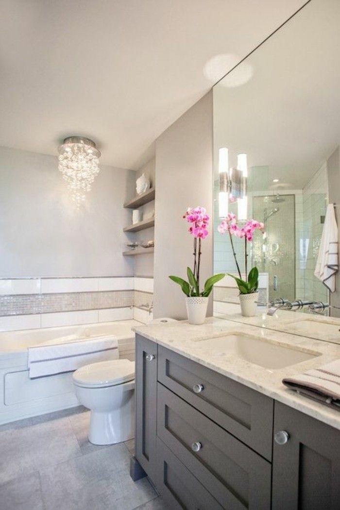 Badezimmer Deko Mit Modernem Kronleuchter